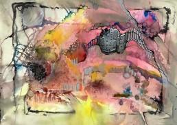 """""""Pandemonium"""" in water media, by Anne Bradley"""